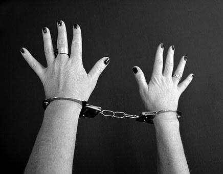 Handcuffs, Prisoners, Woman, Female