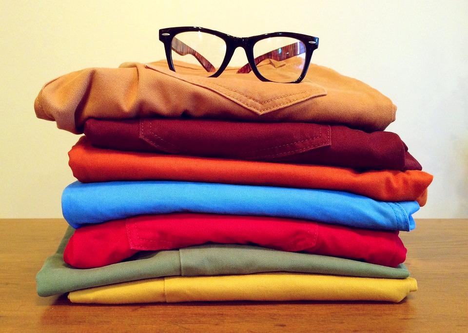 衣料品, ファッション, ドレス, スタイル, カラフルです, 服, メガネ, ズボン