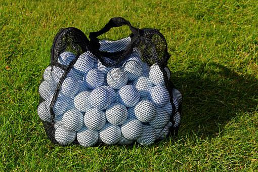 Golf Balls, Practice Balls, Net, Bag