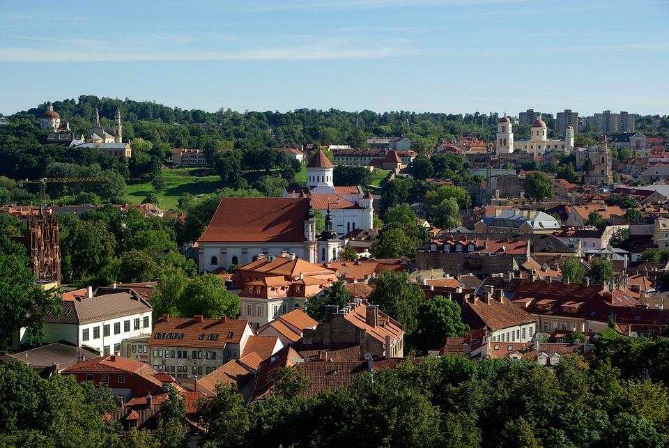 Litwa, Wilno, Kościoły, Katedra, City, Stary, Historia