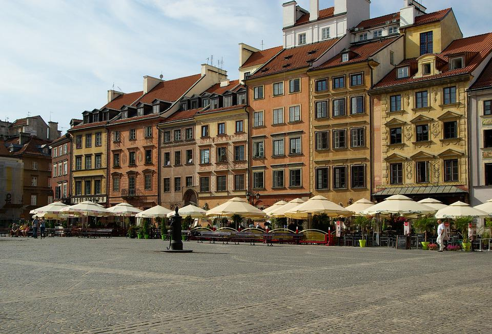 Poland, Warsaw, Old Town, Place, Facades, Market Place