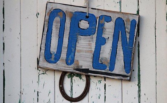 Open Sign Beach Rustic Open Sign Business