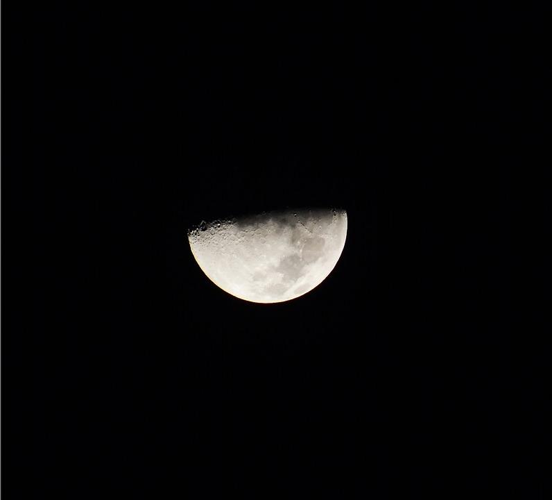 Cuarto Menguante Luna Noche · Foto gratis en Pixabay