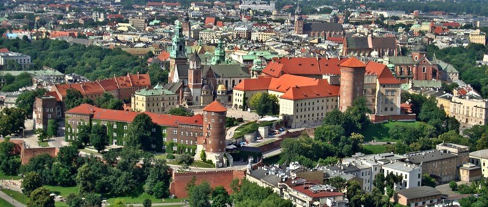 Kraków, Polska, Wawel, Zamek, Zabytek, Z Lotu Ptaka