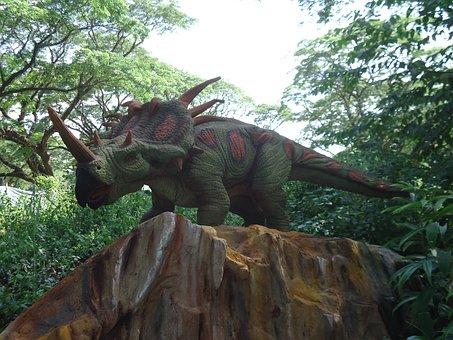 Dinosaur, Triceratops, Jurassic, Reptile