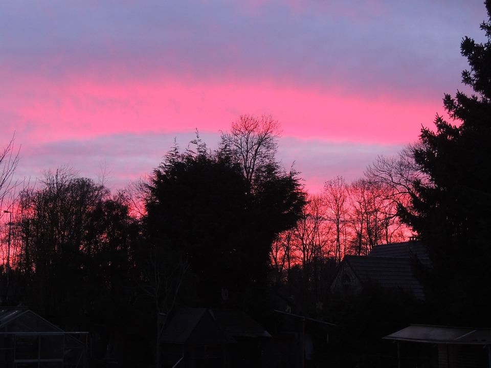 Photo gratuite coucher soleil rouge soir rose image gratuite sur pixaba - Coucher de soleil rose ...