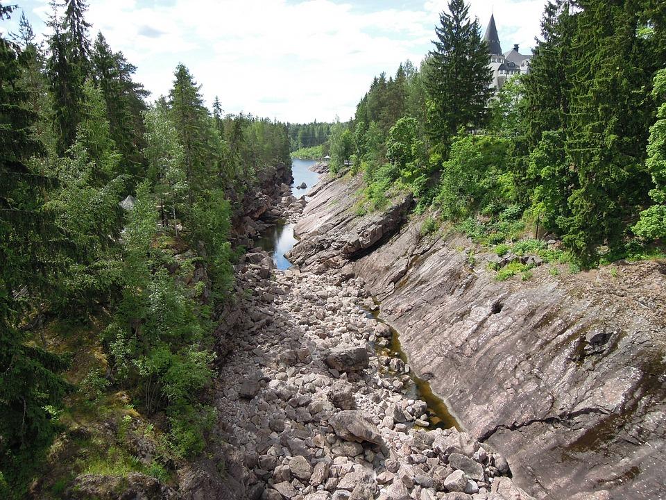 Imatra, Koski, Uoma, Luonto, Kesä, Suomi, Taivas