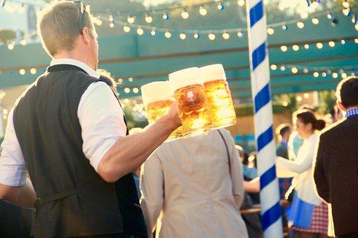 オクトーバーフェスト, ミュンヘン, ウェイター, ビール, 測定