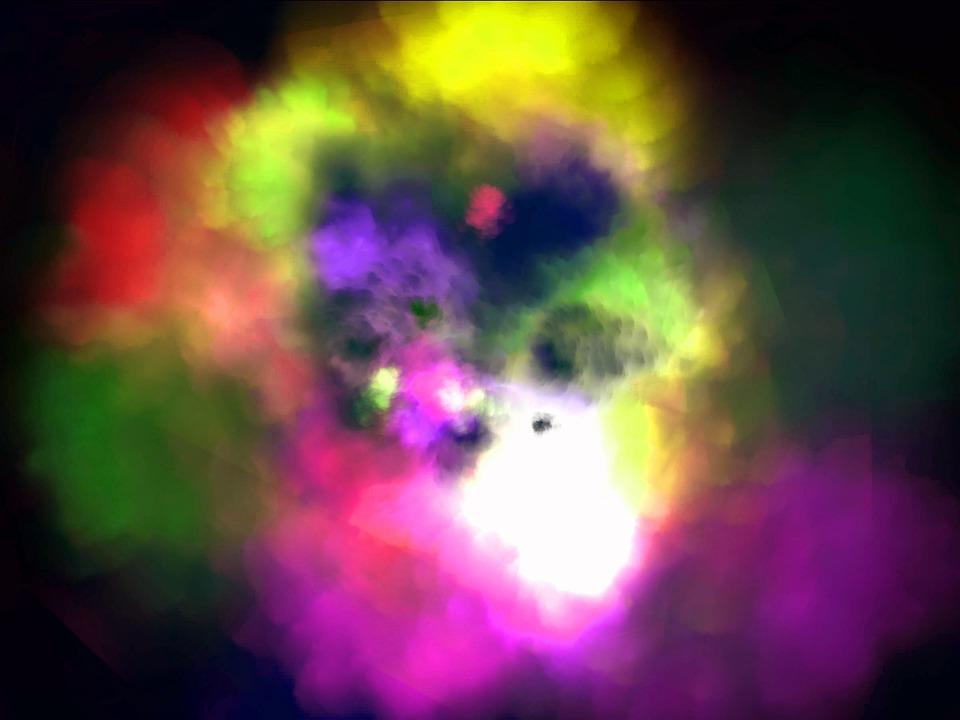 color polvo de pintura farbpulver colorido la luz
