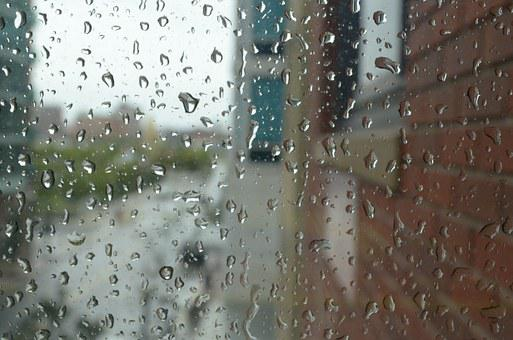Raindrops, Clean, Water, Window