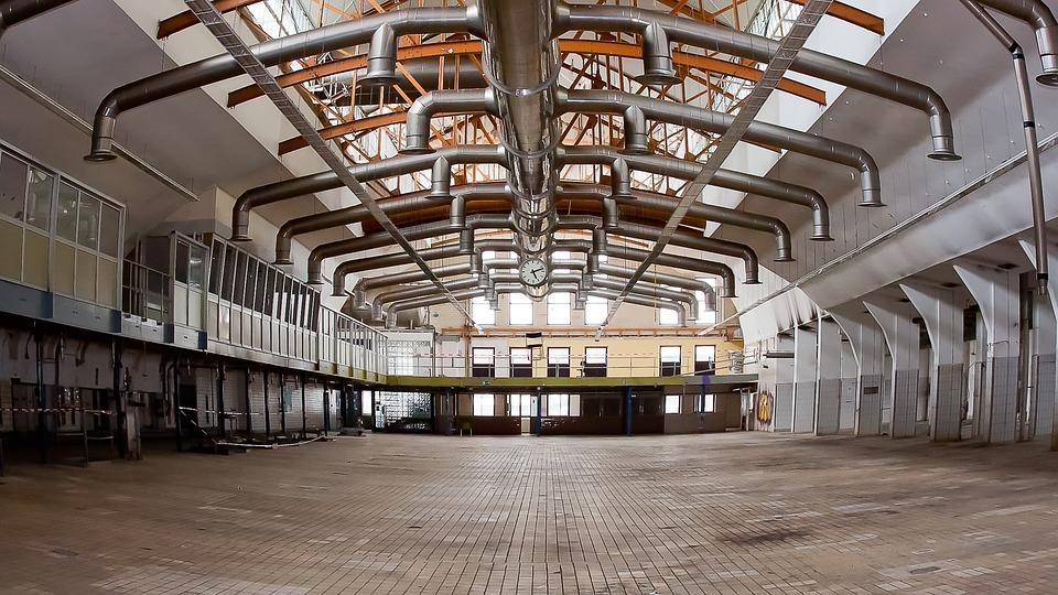 Industrie, Halle, Lüftung, Butterfabrik, Rama, Werk