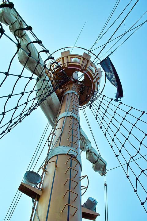 free photo  mast  pirate ship  pirate flag - free image on pixabay