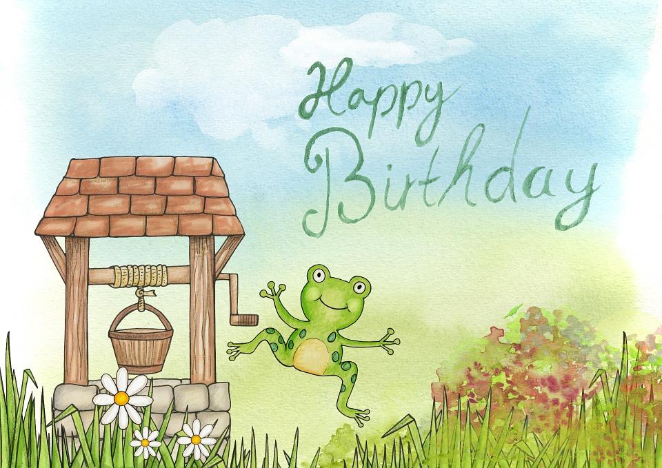 Gelukkig Verjaardag Kikker Gratis Afbeelding Op Pixabay