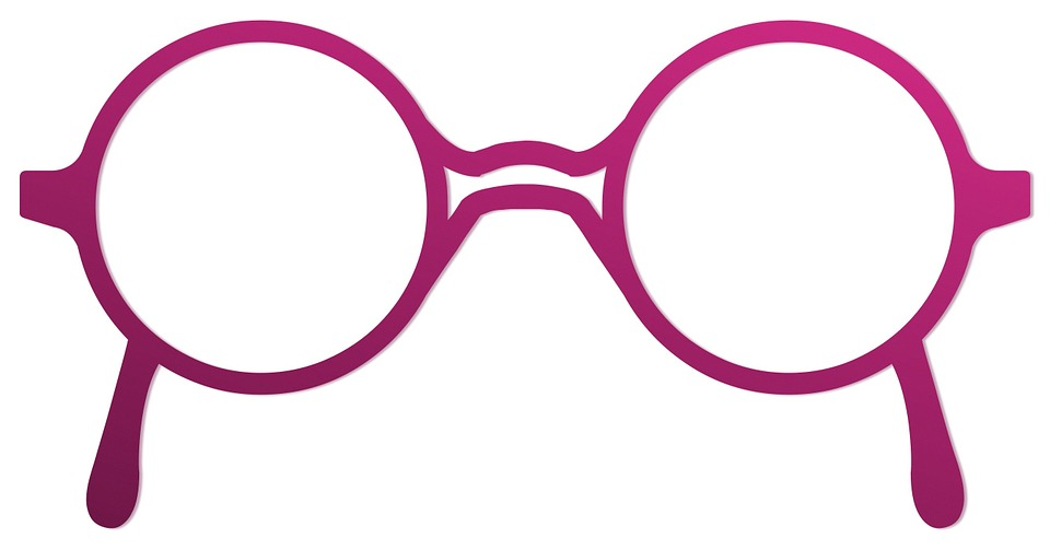 Free Illustration Glasses Round Old Design