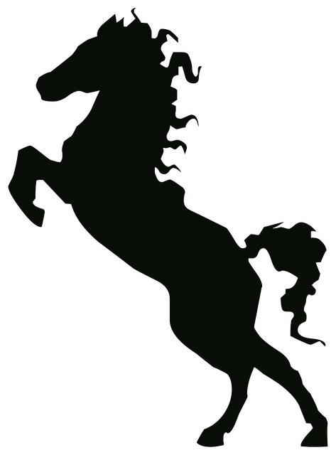 free illustration silhouette drawing outline horse