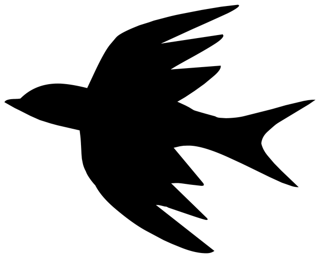 Silhouette drawing outline free image on pixabay - Dessins oiseau ...