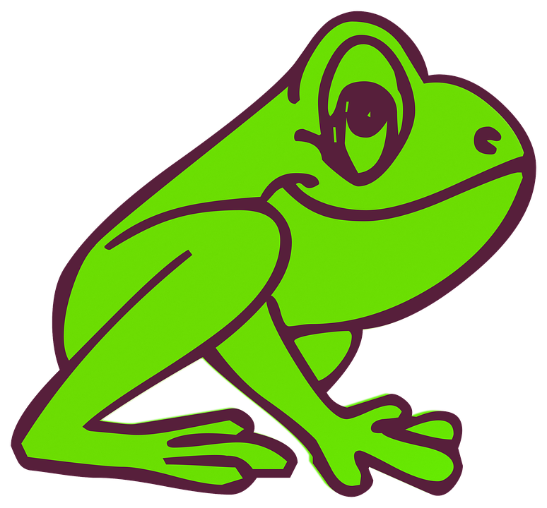 Colorful frogs clipart