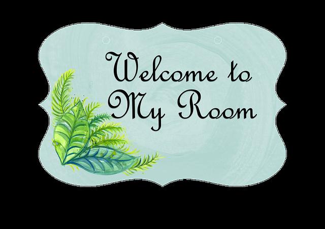 Free Illustration Door Sign Romantic Welcome Room