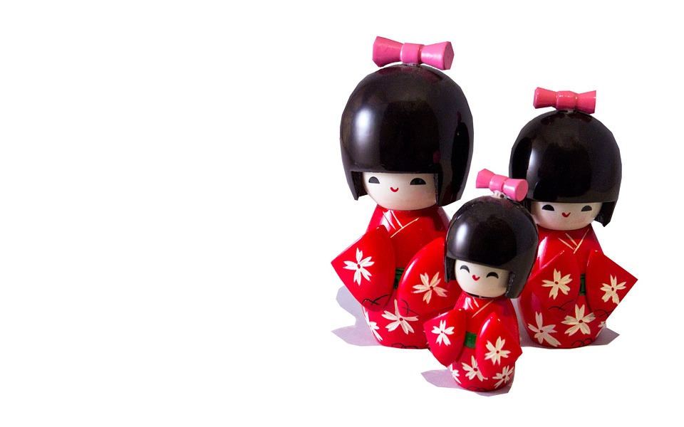 Free photo: Japanese Dolls, Cut Out, Japanese