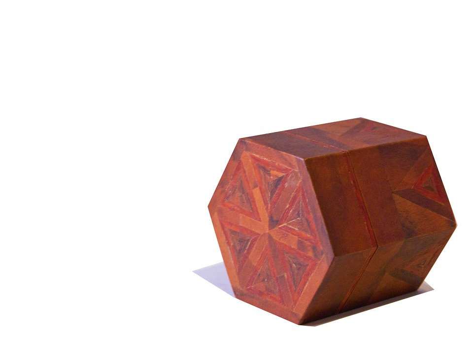 Box Cut Out Design Pattern Closed Wood Wooden