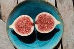 fig, sliced, plate