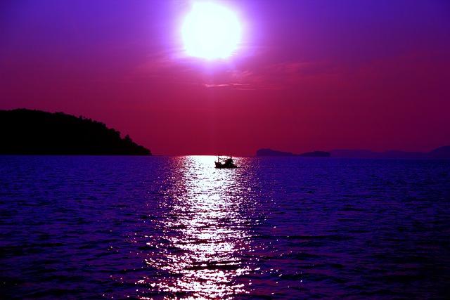 gratis foto paars zee oceaan zon natuur gratis