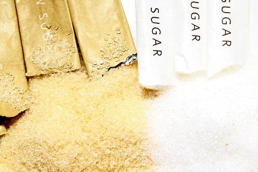 Zucchero, Zucchero Di Canna, Sano, Brown
