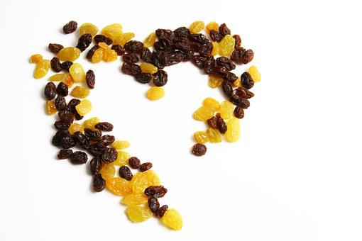 Love, Raisins, Food, Sweet, Heart, Snack