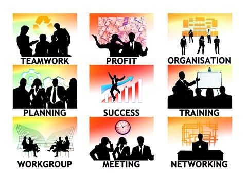 会社, 個人, シルエット, 実業家, ビジネス, ワークプ レース, 経済