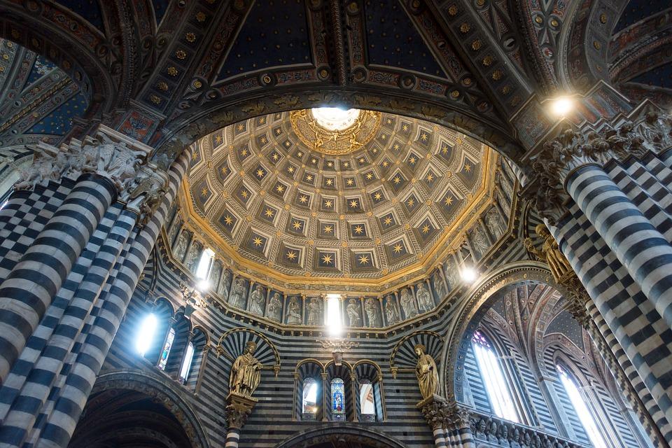 Dom, Siena, Marmo, Geometrica, A Strisce, Nero, Bianco