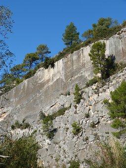 Bergvägg, Vertikal, Berget, Kalksten