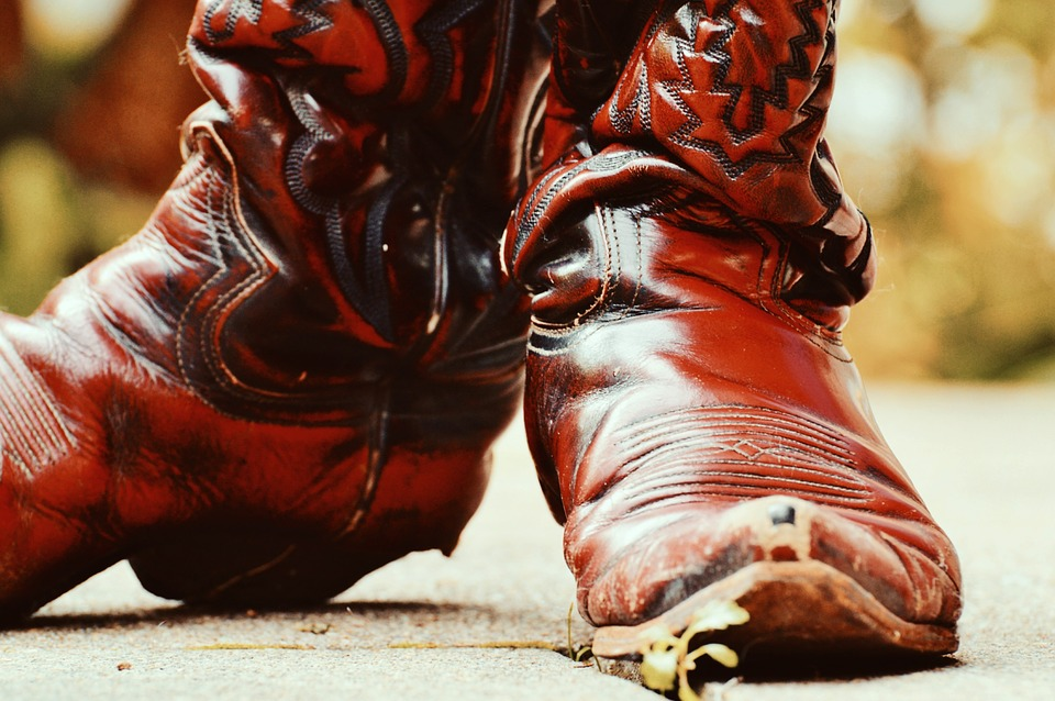 free photo cowboy boots leather 80s retro free image