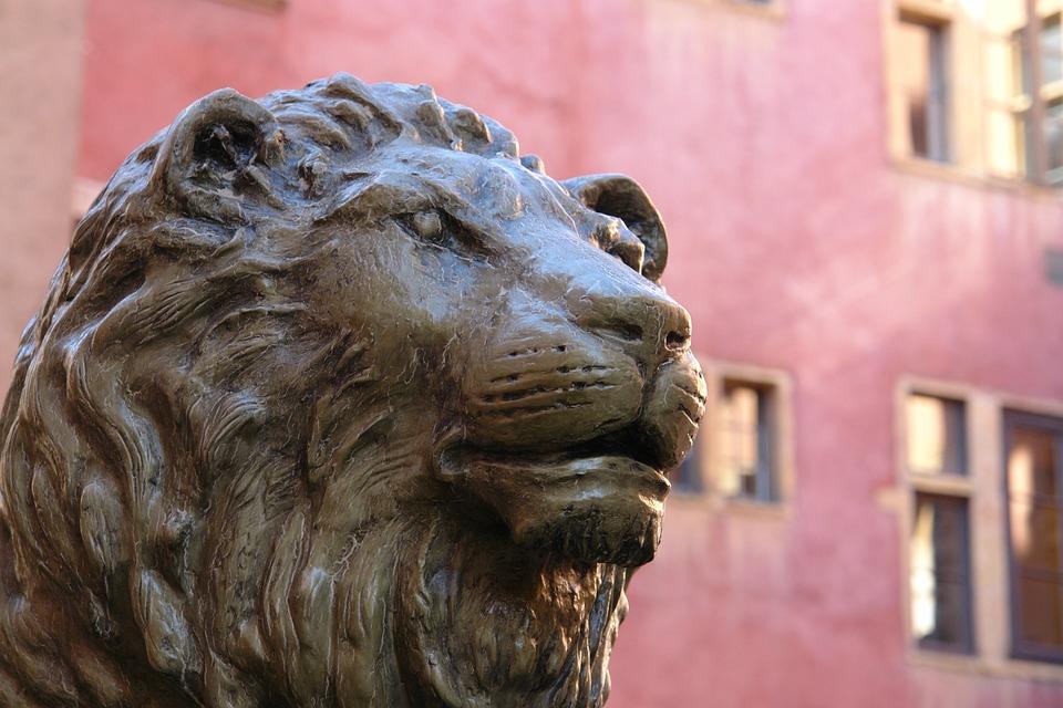 Lyon, Statue, Bronze, France, Monument, Rue, Historique