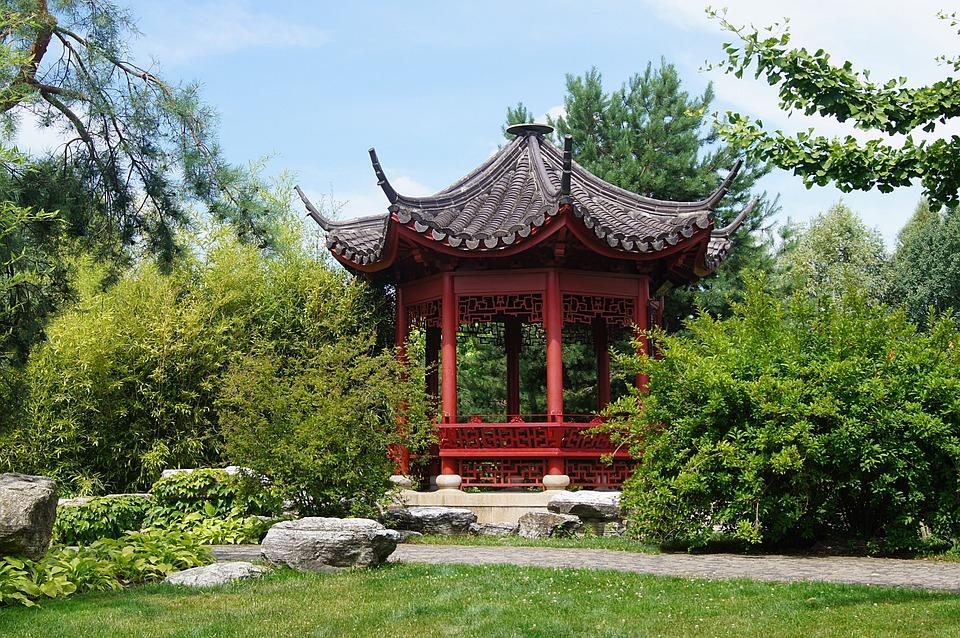 Photo Gratuite Pavillon Chinois Vert Paysage Image