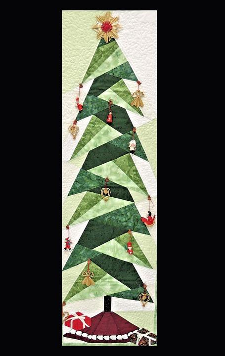 rbol de navidad artesanal tela coser artes