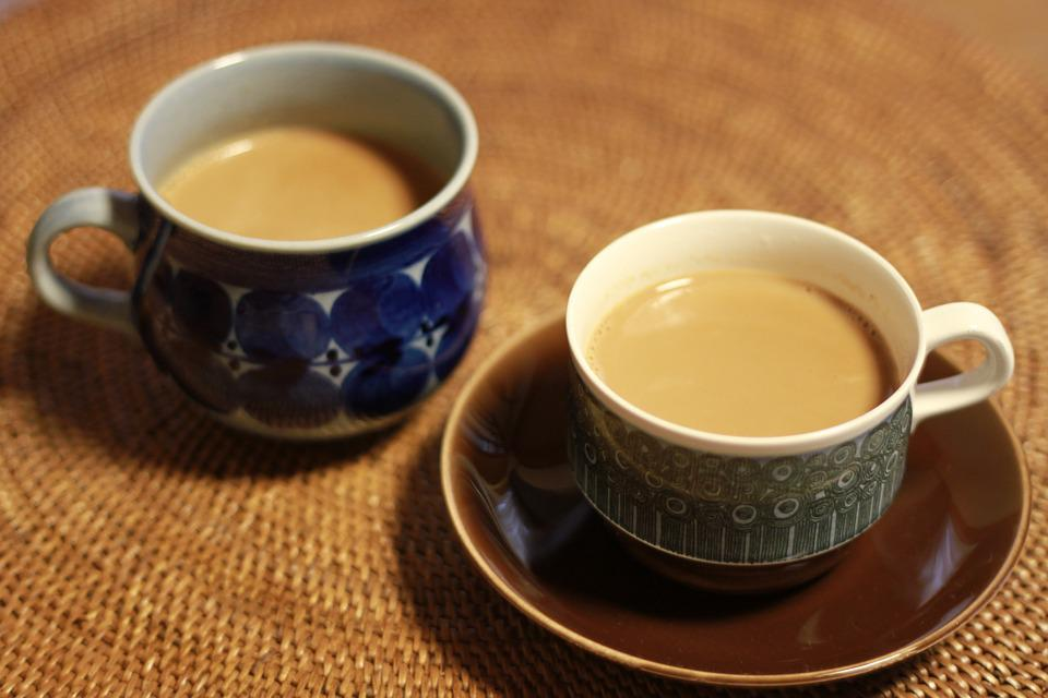 チャイ, 紅茶, ティーカップ, コーヒーカップ, お茶, ミルクティー