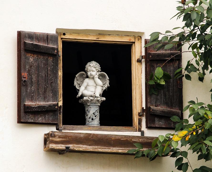 Venster, Angel, Figuur, Beschermengel, Sculptuur