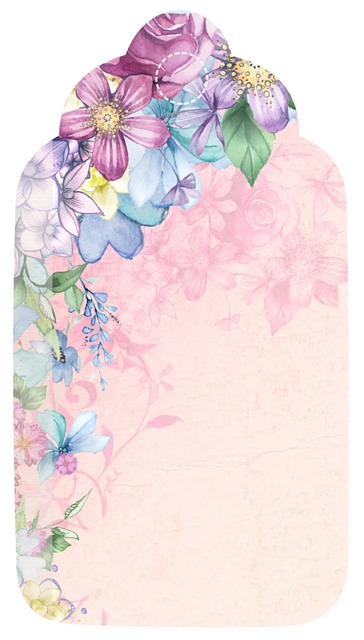 free illustration tag flower romantic scrapbook free