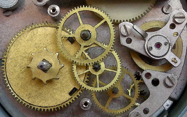 Free Illustration Clock Mechanism Gears Free Image On
