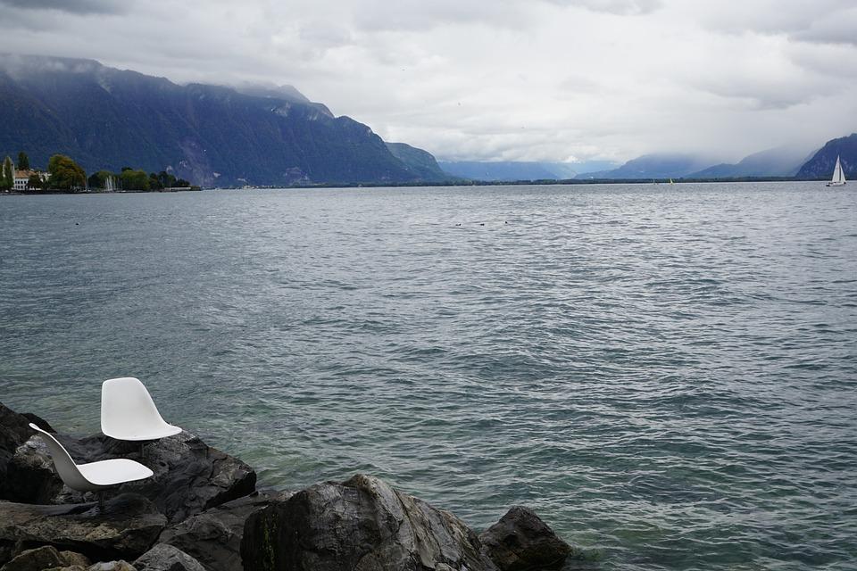 ヴェヴェイ スイス ジュネーブ湖...