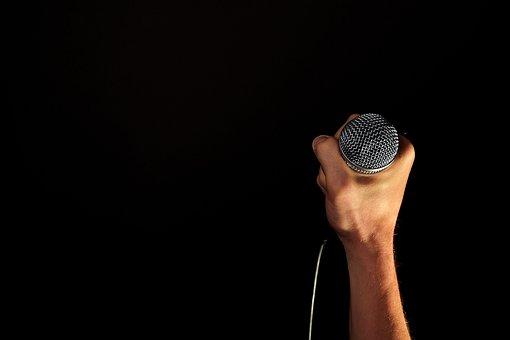 Main, Microphone, Mic, Maintenez, Poing