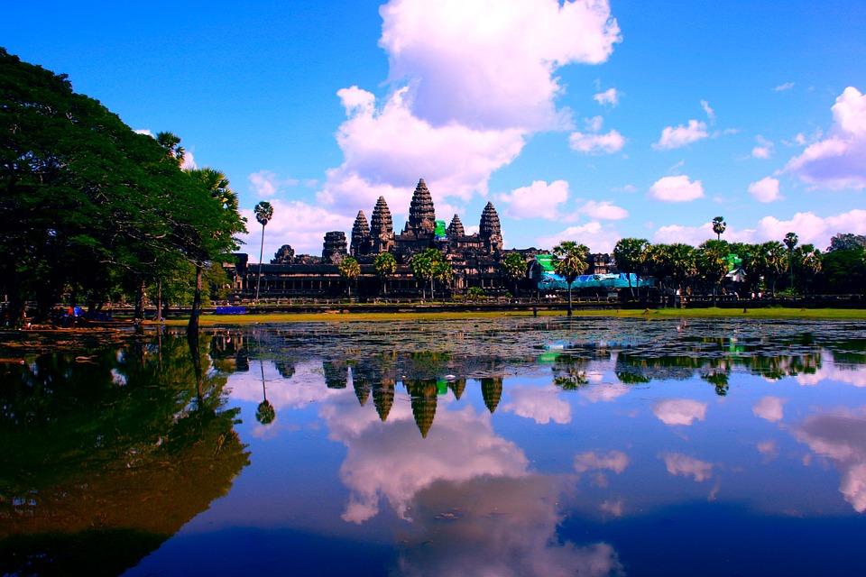 Ankor Wat, Cambodia, Asia, Lake, Angkor, Wat, Ankor