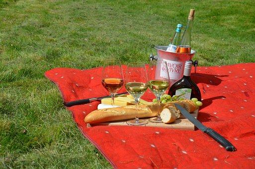 Picnic, Savoir Vivre, Wine, Blanket