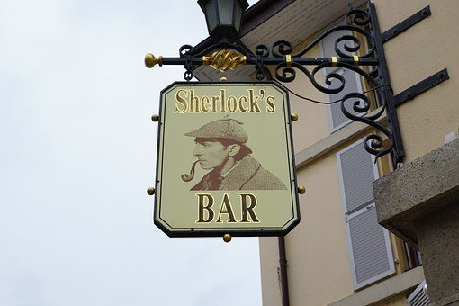 Bar, Bouclier, Scherlock, Dépendent, Pub