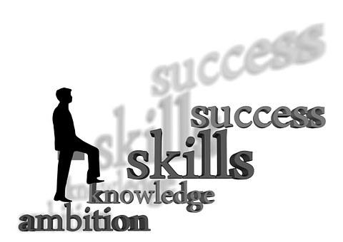 실루엣, 사람, 남자, 야망, 알고있다, 능력, 성공, 사업가