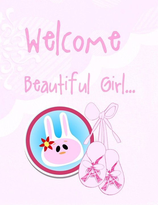 Baby girl birth free image on pixabay baby girl birth card greeting baby girl adorable m4hsunfo Choice Image