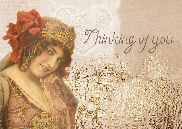 free illustration  romantic  vintage  background  lady