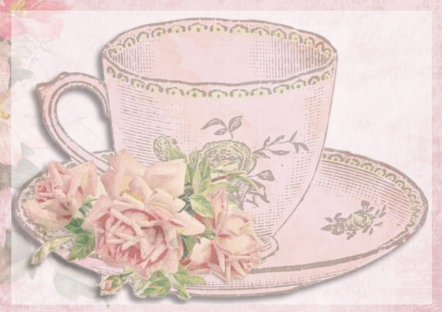 Vintage Card Teacup 183 Free Image On Pixabay