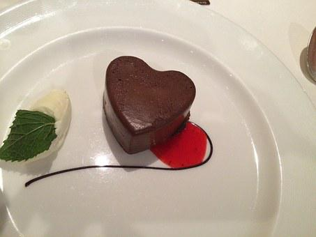 Heart, Dessert, Cake, Mousse, Love, Food