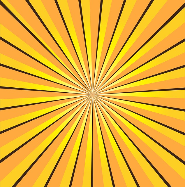 free illustration sunburst yellow rays sun free